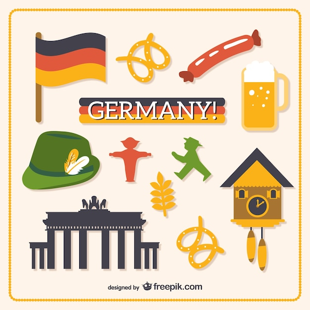 Objects from germany Free Vector