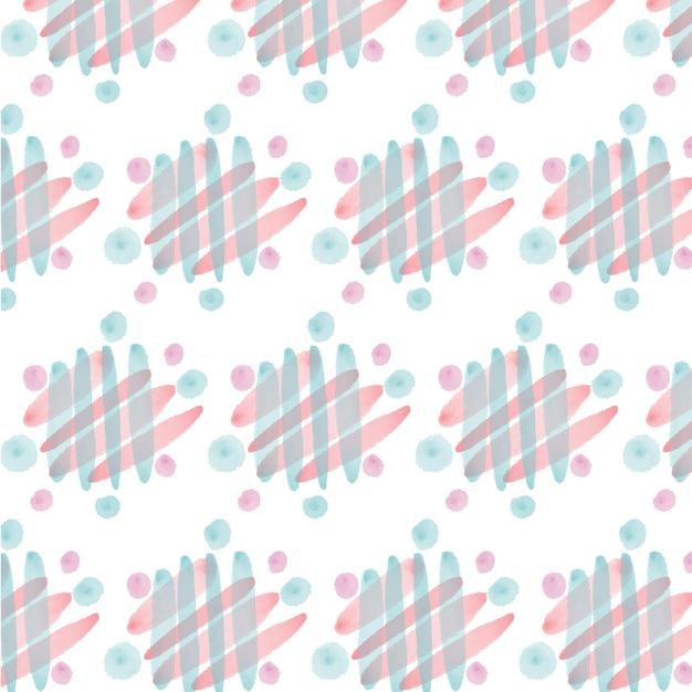 斜めの線は水彩のシームレスなパターンを抽象化します 無料ベクター