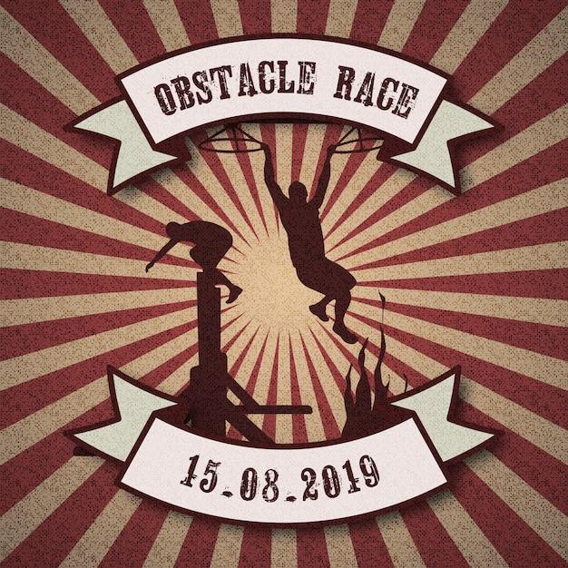 Obstacle race concept Premium Vector