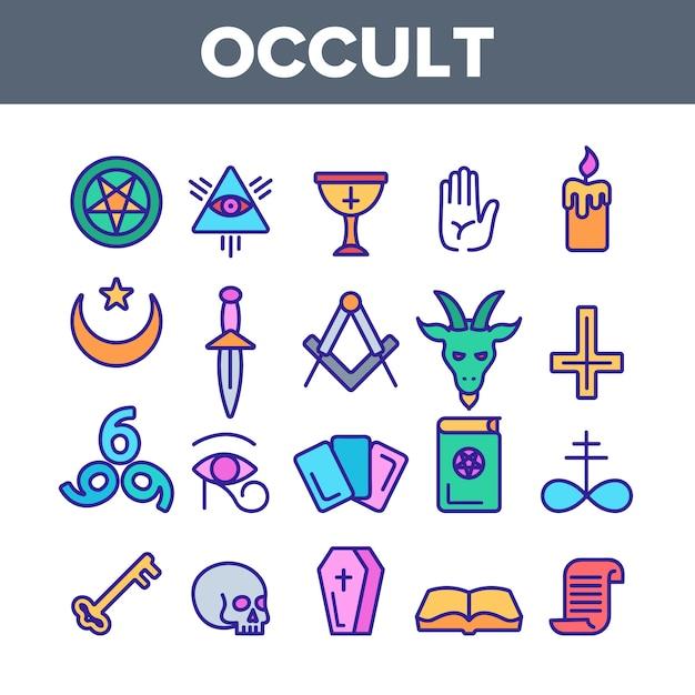 Occult, demonic entity imagery Premium Vector