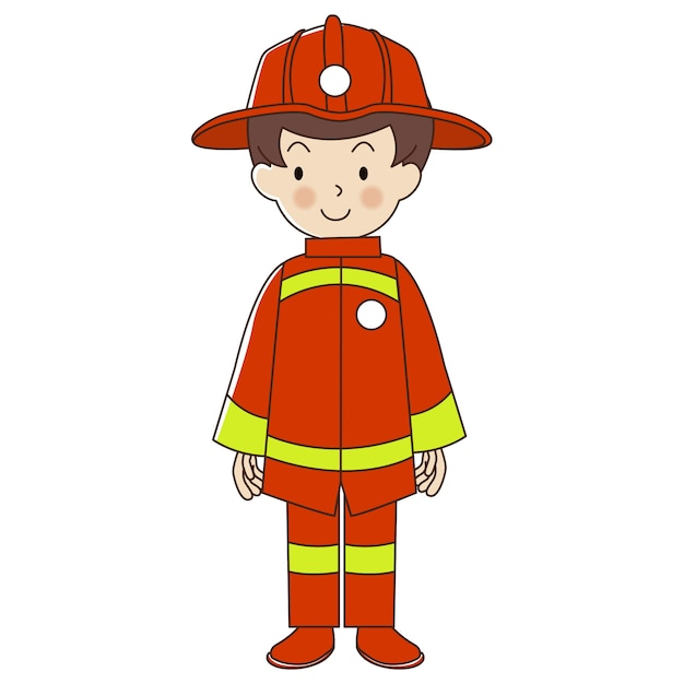 Occupation firefighter Premium Vector