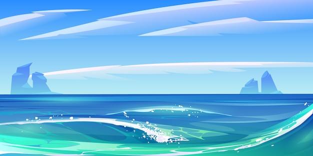 하얀 거품, 자연 풍경과 바다 바다 파도 무료 벡터