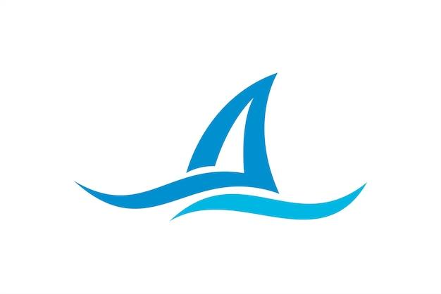 ocean wave nature logo template premium vector