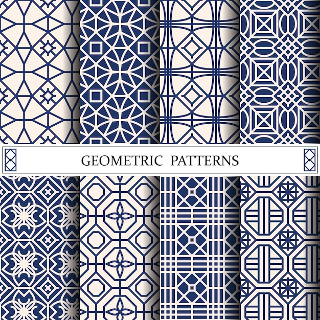 Octagon geometric vector pattern for web page background Premium Vector