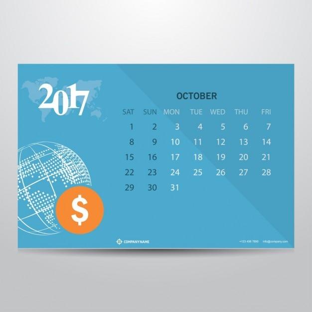 October 2017 Calendar Printable Templates - Calendar …