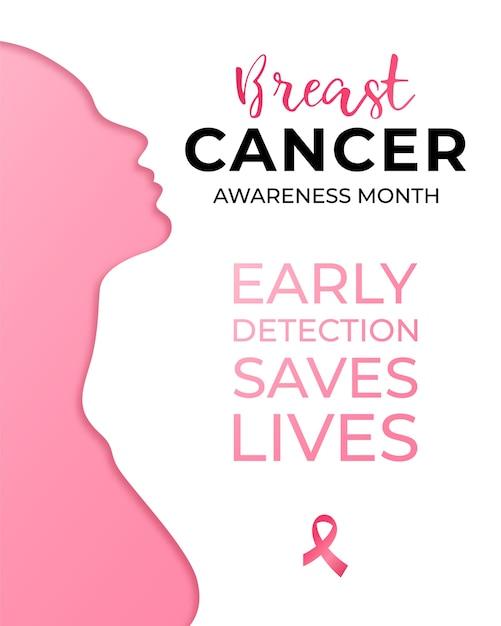 10月-乳がん啓発月間キャンペーン。 Premiumベクター
