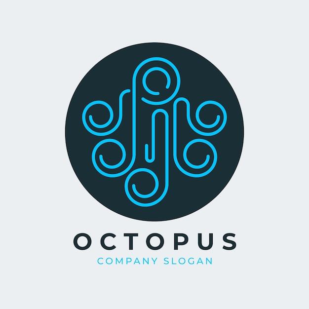 Octopus logo concept Free Vector