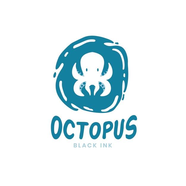 Концепция логотипа осьминог Premium векторы