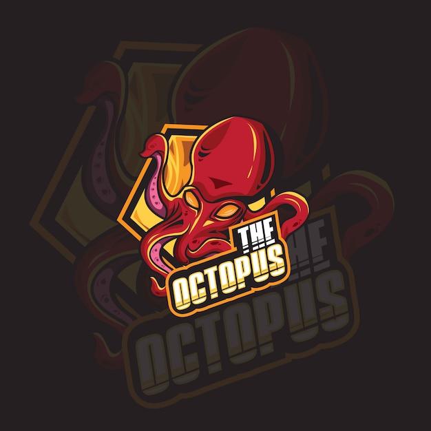 Octopus logo Premium Vector