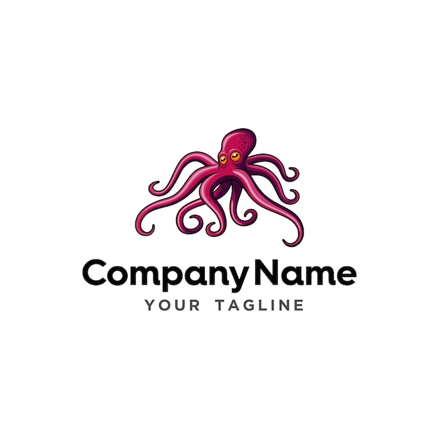 Octopus Seafood Restaurant Logo Template Vector | Premium Download