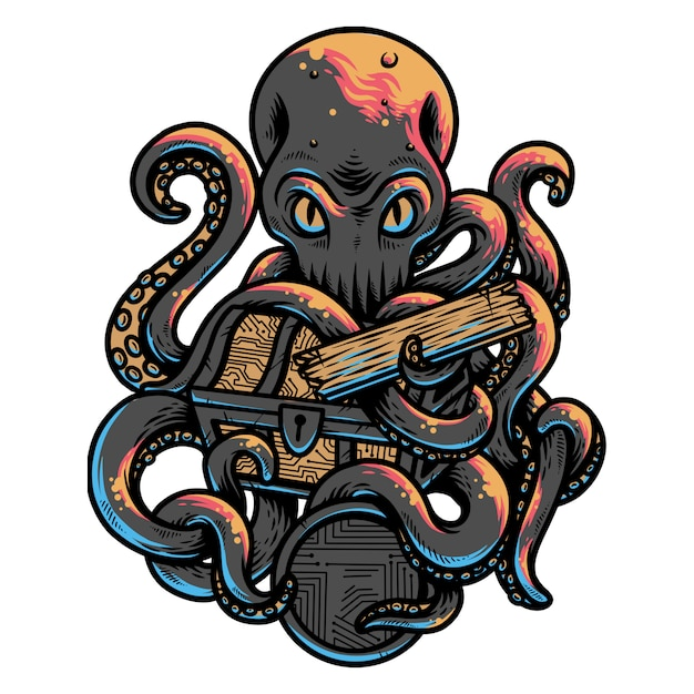 Octopus Premium Vector