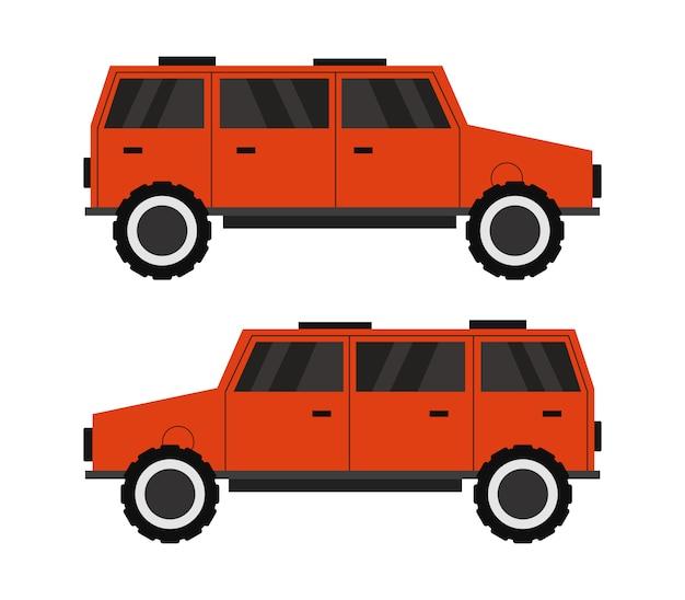 Off-road 4x4 vehicle Premium Vector