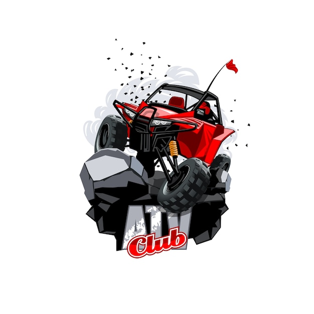 Off-road atv buggy logo Premium Vector