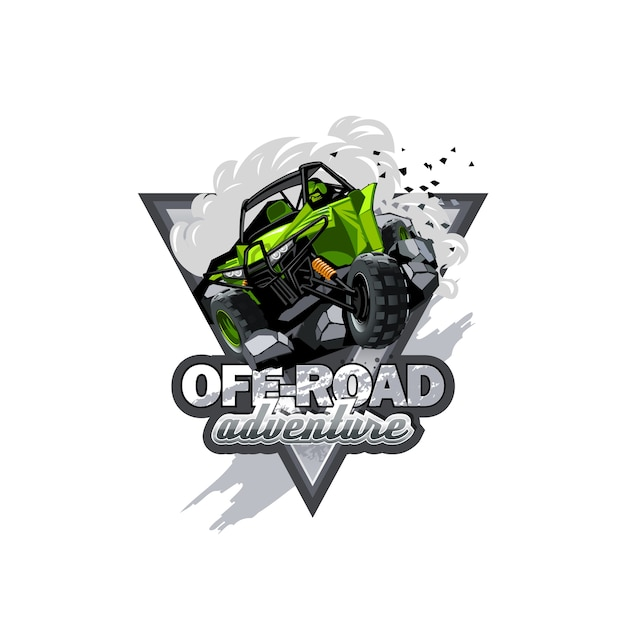 Off-road atv buggy logo Premium Vector