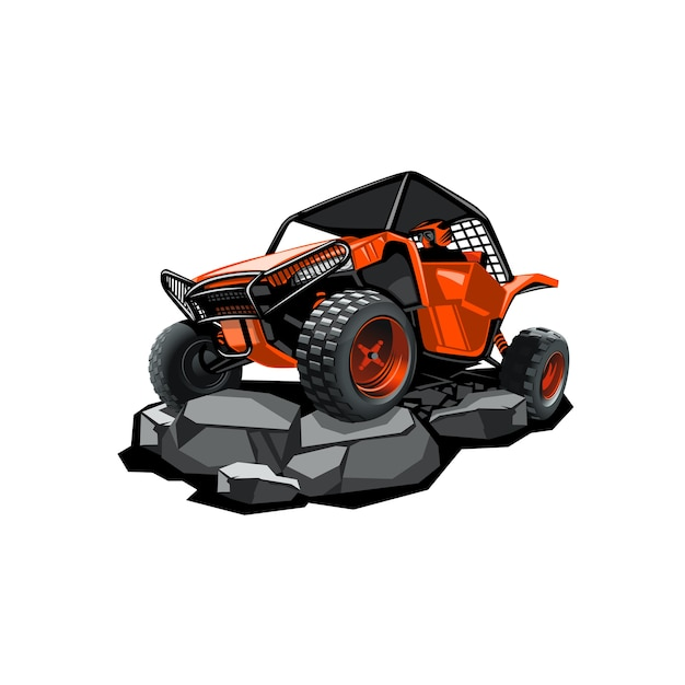 Off-road atv buggy Premium Vector
