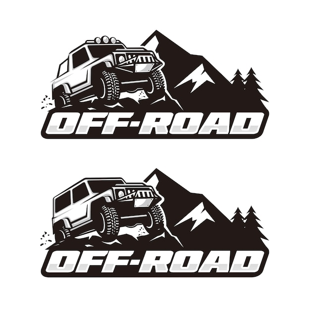 Off road logo template Premium Vector