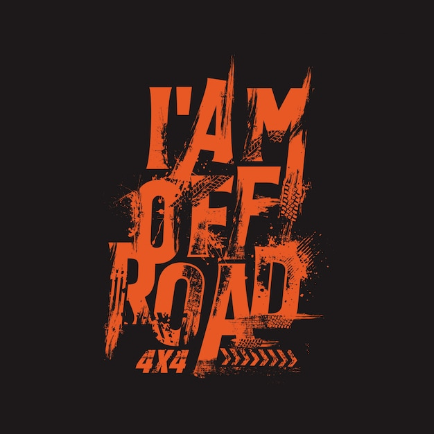 Off road text Premium Vector