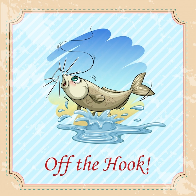 Off the hook idiom concept Free Vector