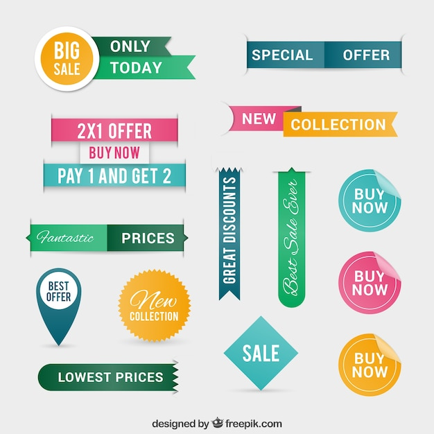Offer labels  Free Vector