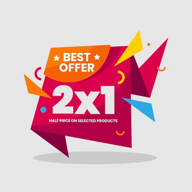 Offer promotion banner Free Vector
