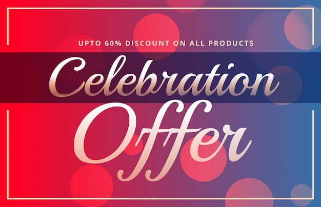 offer sale banner gift voucher discount stylish template Free Vector
