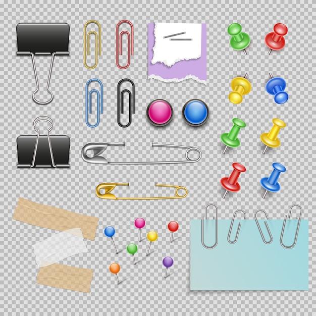 Set di accessori per ufficio Vettore gratuito