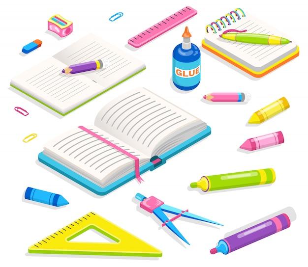 Office accessory, school supplies, chancery Premium Vector
