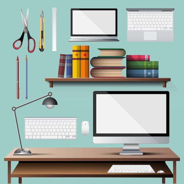 オフィス機器のベクトル Premiumベクター