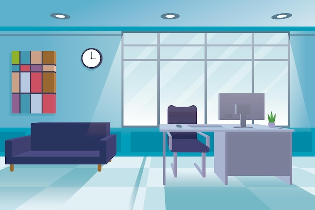 Office background concept Premium Vector