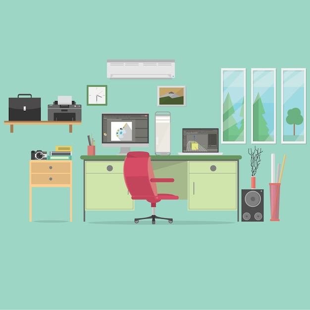 Office background design Free Vector