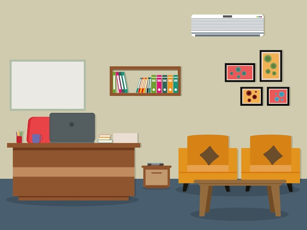 office background design vector premium download