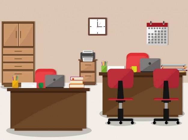 Office Background Design Premium Vector