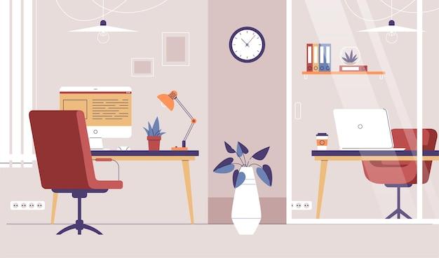 オフィス背景デザイン 無料ベクター