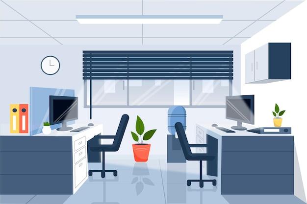 Офис - фон для видеоконференцсвязи Бесплатные векторы