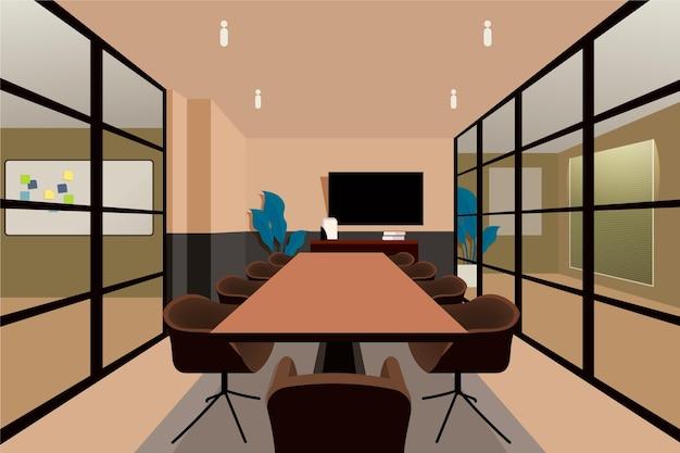 Office background theme Premium Vector