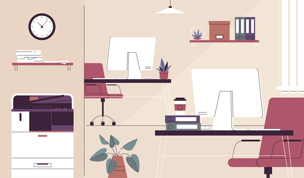 Office background theme Free Vector