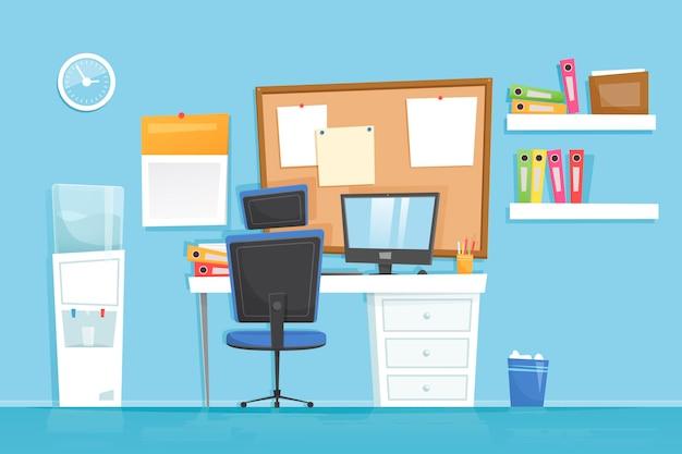 Office - sfondo per le videoconferenze Vettore gratuito