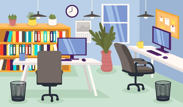 Office - background for video conferencing Free Vector