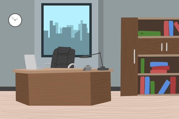 Office - background for video conferencing Premium Vector