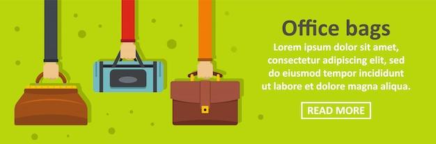 Office bags banner template horizontal concept Premium Vector
