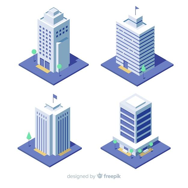 Office building pack Premium Vector