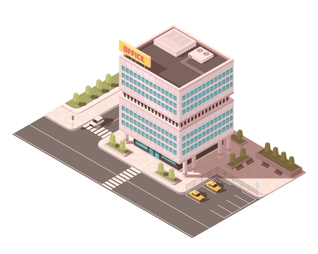 Office building Free Vector