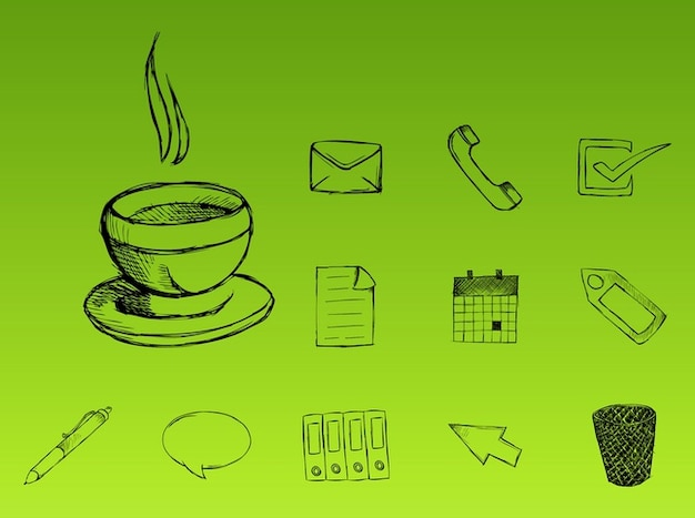 Office business icons vector pack