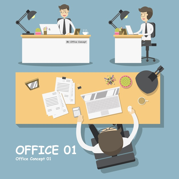 Office designs collection Free Vector