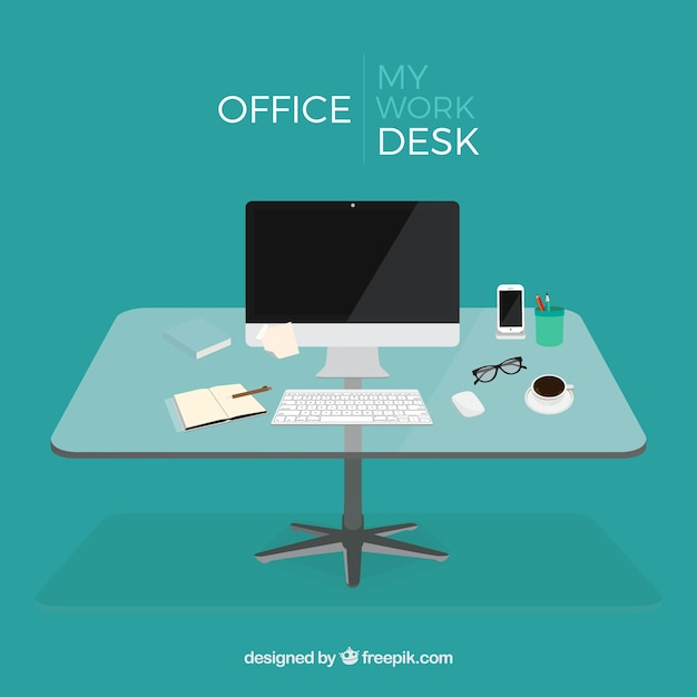 Office Desk Vector Free Download
