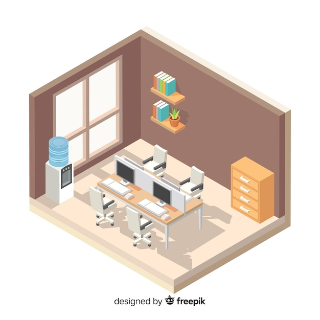 Office desk Free Vector