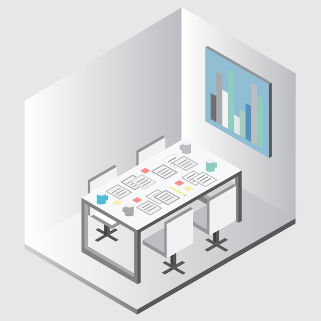 Office equipment vector Free Vector