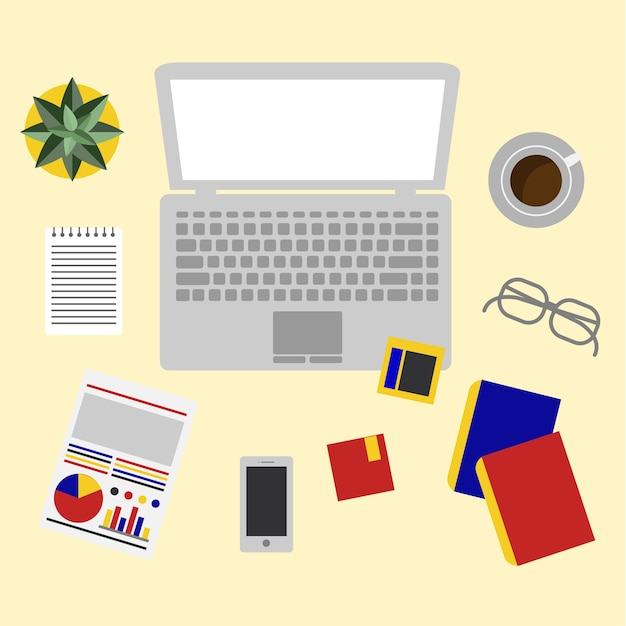 Office equipment Free Vector