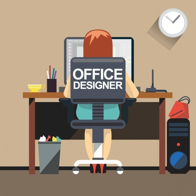 Office For Designer Vector