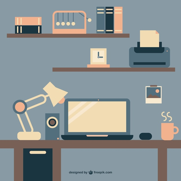 Office Free Flat Image Vector Free Download